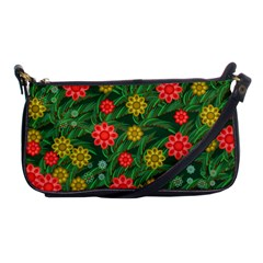Completely Seamless Tile With Flower Shoulder Clutch Bags by Simbadda