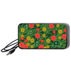 Completely Seamless Tile With Flower Portable Speaker (black) by Simbadda