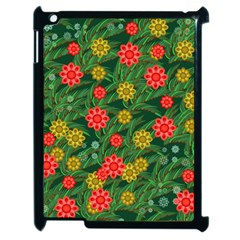Completely Seamless Tile With Flower Apple Ipad 2 Case (black) by Simbadda