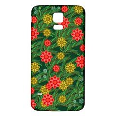 Completely Seamless Tile With Flower Samsung Galaxy S5 Back Case (white) by Simbadda