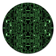 An Overly Large Geometric Representation Of A Circuit Board Magnet 5  (round) by Simbadda
