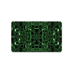 An Overly Large Geometric Representation Of A Circuit Board Magnet (name Card) by Simbadda