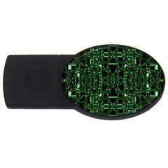 An Overly Large Geometric Representation Of A Circuit Board Usb Flash Drive Oval (4 Gb) by Simbadda