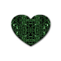 An Overly Large Geometric Representation Of A Circuit Board Rubber Coaster (heart)  by Simbadda