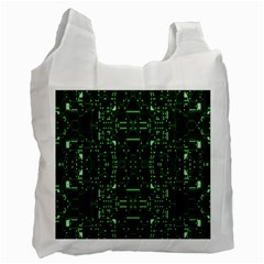 An Overly Large Geometric Representation Of A Circuit Board Recycle Bag (One Side) by Simbadda