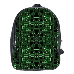 An Overly Large Geometric Representation Of A Circuit Board School Bags(large)  by Simbadda