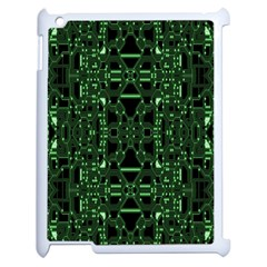 An Overly Large Geometric Representation Of A Circuit Board Apple Ipad 2 Case (white) by Simbadda