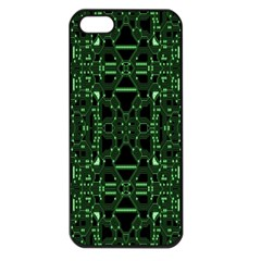 An Overly Large Geometric Representation Of A Circuit Board Apple Iphone 5 Seamless Case (black) by Simbadda