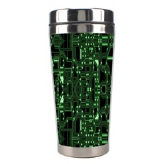 An Overly Large Geometric Representation Of A Circuit Board Stainless Steel Travel Tumblers by Simbadda