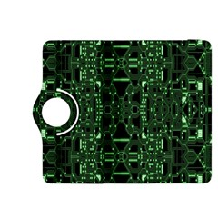 An Overly Large Geometric Representation Of A Circuit Board Kindle Fire Hdx 8 9  Flip 360 Case by Simbadda