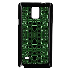 An Overly Large Geometric Representation Of A Circuit Board Samsung Galaxy Note 4 Case (black) by Simbadda