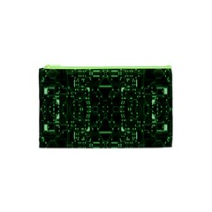 An Overly Large Geometric Representation Of A Circuit Board Cosmetic Bag (xs) by Simbadda