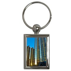 Two Abstract Architectural Patterns Key Chains (rectangle)  by Simbadda