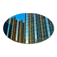 Two Abstract Architectural Patterns Oval Magnet by Simbadda