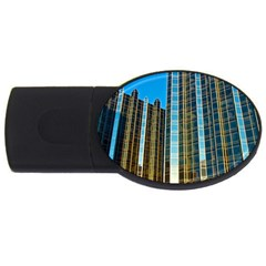 Two Abstract Architectural Patterns Usb Flash Drive Oval (2 Gb) by Simbadda