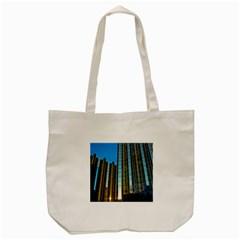 Two Abstract Architectural Patterns Tote Bag (cream) by Simbadda