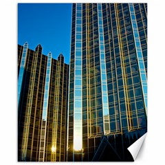 Two Abstract Architectural Patterns Canvas 16  X 20   by Simbadda