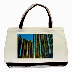 Two Abstract Architectural Patterns Basic Tote Bag (two Sides) by Simbadda