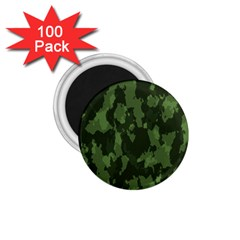Camouflage Green Army Texture 1 75  Magnets (100 Pack)  by Simbadda