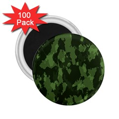 Camouflage Green Army Texture 2 25  Magnets (100 Pack)  by Simbadda