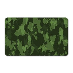 Camouflage Green Army Texture Magnet (rectangular) by Simbadda