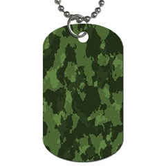Camouflage Green Army Texture Dog Tag (two Sides) by Simbadda