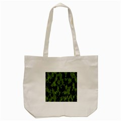 Camouflage Green Army Texture Tote Bag (cream) by Simbadda