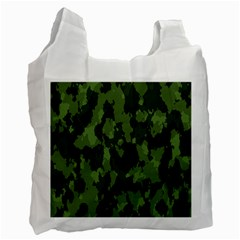 Camouflage Green Army Texture Recycle Bag (Two Side)  by Simbadda