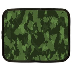 Camouflage Green Army Texture Netbook Case (xxl)  by Simbadda