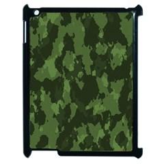 Camouflage Green Army Texture Apple Ipad 2 Case (black) by Simbadda