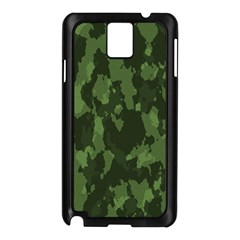 Camouflage Green Army Texture Samsung Galaxy Note 3 N9005 Case (black) by Simbadda