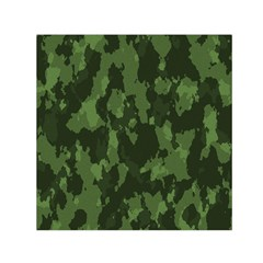 Camouflage Green Army Texture Small Satin Scarf (square) by Simbadda