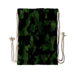 Camouflage Green Army Texture Drawstring Bag (small) by Simbadda