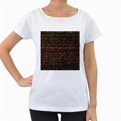 Pixel Pattern Colorful And Glowing Pixelated Women s Loose Fit T Shirt (white) by Simbadda