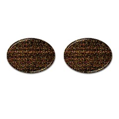 Pixel Pattern Colorful And Glowing Pixelated Cufflinks (oval) by Simbadda