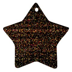 Pixel Pattern Colorful And Glowing Pixelated Star Ornament (two Sides) by Simbadda