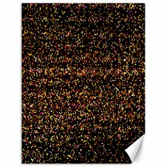 Pixel Pattern Colorful And Glowing Pixelated Canvas 18  X 24   by Simbadda