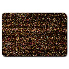 Pixel Pattern Colorful And Glowing Pixelated Large Doormat  by Simbadda