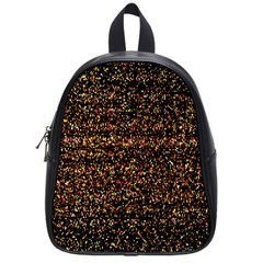 Pixel Pattern Colorful And Glowing Pixelated School Bags (small)  by Simbadda