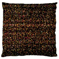 Pixel Pattern Colorful And Glowing Pixelated Large Cushion Case (two Sides) by Simbadda