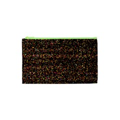 Pixel Pattern Colorful And Glowing Pixelated Cosmetic Bag (xs) by Simbadda