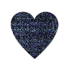 Pixel Colorful And Glowing Pixelated Pattern Heart Magnet by Simbadda