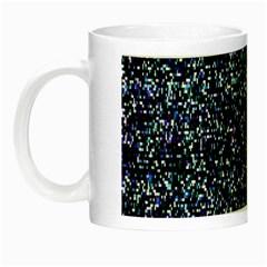 Pixel Colorful And Glowing Pixelated Pattern Night Luminous Mugs by Simbadda