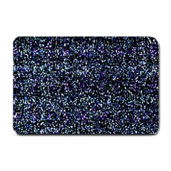 Pixel Colorful And Glowing Pixelated Pattern Small Doormat  by Simbadda