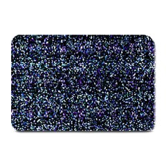 Pixel Colorful And Glowing Pixelated Pattern Plate Mats by Simbadda