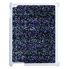 Pixel Colorful And Glowing Pixelated Pattern Apple Ipad 2 Case (white) by Simbadda