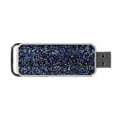 Pixel Colorful And Glowing Pixelated Pattern Portable Usb Flash (one Side) by Simbadda