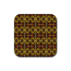Seamless Symmetry Pattern Rubber Coaster (square)  by Simbadda