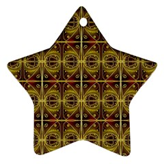 Seamless Symmetry Pattern Star Ornament (two Sides) by Simbadda