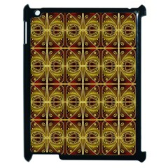 Seamless Symmetry Pattern Apple Ipad 2 Case (black) by Simbadda